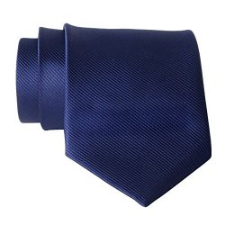 QBSM Mens Ties Navy Blue Solid Color Formal Dress Suit Neckties Neck Tie Valentine's Day G ...