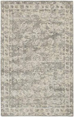Hand Made | Area Rug for Living Room, Bedroom | Home Decor Rug | Galleria Bordered Grey Rug 5&#8 ...
