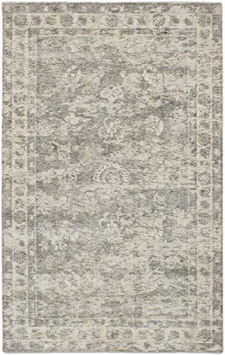 Hand Made | Area Rug for Living Room, Bedroom | Home Decor Rug | Galleria Bordered Grey Rug 5&#8 ...