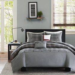 Intelligent Design Daryl Teen Boys Duvet Cover Twin/Twin Xl Size – Grey , Plaid – 4 Piece  ...