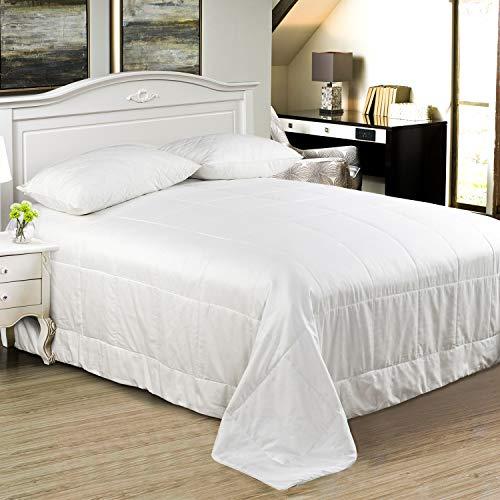 100% Mulberry Pure Silk Comforter/Duvet/Quilt, Keep Warm in Winter/Fall/Spring, Natural Long Str ...