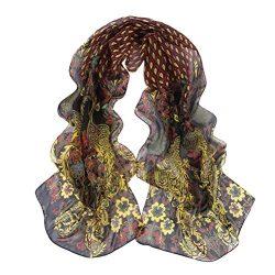 Scarves,lookatool Women Peacock Pattern Soft Silk Chiffon Shawl Wrap Wraps Scarf