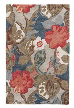 Jaipur Living Petal Pusher Hand-Tufted Floral & Leaves Blue Area Rug (3'6″ X 5&# ...
