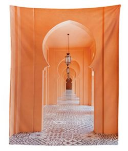Lunarable Arabian Tapestry Twin Size, Moroccan Walkway with Asian Motifs and Arabic Artsy Elemen ...