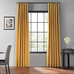 HPD Half Price Drapes PDCH-KBS30BO-84 Blackout Vintage Textured Faux Silk Curtain, 50 x 84, Alle ...