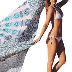 Usstore Summer Printing Bohemian Round Hippie Beach Throw Pool Home Beach Cover Up Dress Swimwea ...