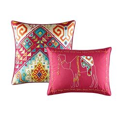 Azalea Skye Moroccan Nights Throw Pillow Set, 12×16, Dark Red, 2 Piece