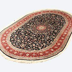 YILONG CARPET 5'x8′ Vintage Oval Persian Area Rug Handmade Oriental Tabriz Silk Carp ...