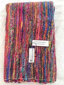 Recycled Silk Woven – Yoga, Exercise, Meditation and Earthing Mat/Rug – Hand loomed  ...