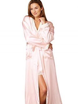 Julianna Rae Women's 100% Silk, Il Cieli Spa Robe, Delicate, L/XL