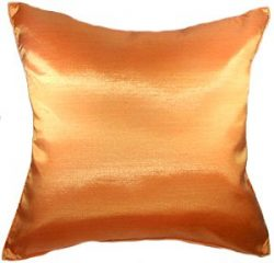 Artiwa 16″x16″ Throw Couch Bed Decorative Silk Pillow Cover : Solid Orange