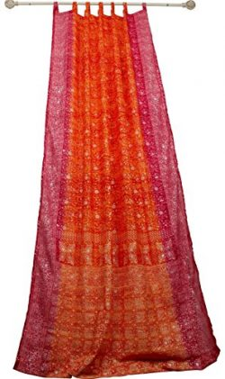 Colorful Window Treatment Draperies Indian Sari panel 108 96 84 inch for bedroom living room din ...