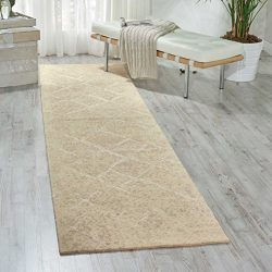 Nourison Silk Elements (SKE20) Natural Runner Area Rug, 2-Feet 5-Inches by 10-Feet  (2'5&# ...