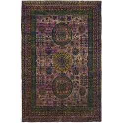 Solo Rugs M6188-19 Sari Silk Hand Knotted Area Rug, 8′ 10″ x 13′ 3″, Purple