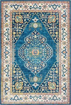 Surya Aura Silk – 2′ x 3′ Area Rug Blue