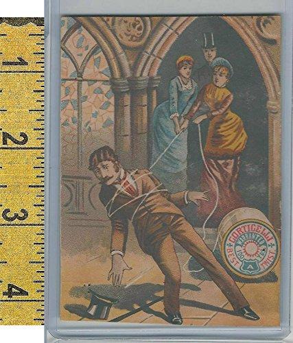 Victorian Card, 1890's, Gorticelli Silk, Ladies Tie Up Man