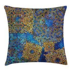 Ambesonne Ethnic Throw Pillow Cushion Cover, Traditional Persian Motif Oriental Moroccan Effects ...