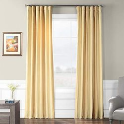 Half Price Drapes Pts-SLK003-84 Faux Silk Stripe Curtain, 50 x 84, Berkshire