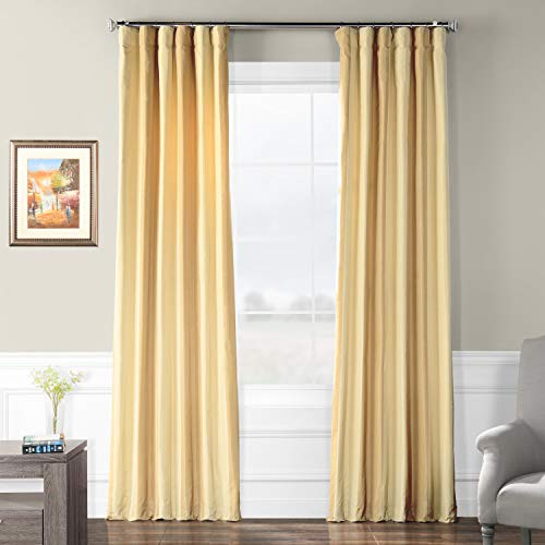 Half Price Drapes Pts-SLK003-84 Faux Silk Stripe Curtain, 50 x 84, Berkshire