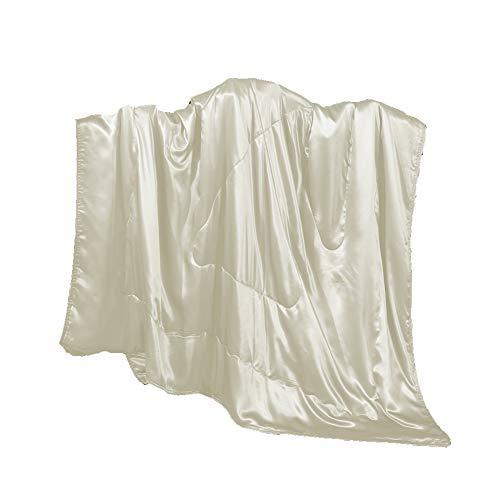 Cozysilk Silk Throw, Children Blanket/Portable Travel Mini Blanket Sofa/Couch Throw Filling with ...