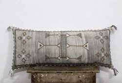 Archana Arts and Crafts Dusty Color Moroccan Silk Pillow Cover Sabra Silk Inspired Sofa Pillow C ...