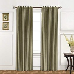 United Curtain 100-Percent Dupioni Silk Window Curtain Panel, 42 by 95-Inch, Sage