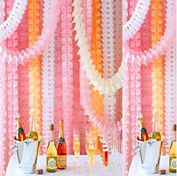 Mexlor Hanging Garland Four-Leaf Tissue Paper Flower Garland Reusable Party Streamers Party Wedd ...