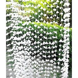 72 Inch White Polyester Garland Curtain Decorators Ambiance Setter Flower Garland Summer Party C ...