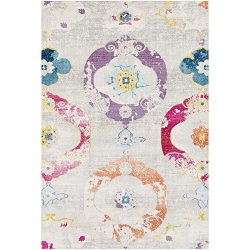 Maybell Beige and Pink Bohemian/Global Area Rug 2′ x 3′
