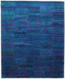 Sari pure silk rug 8'1″x10′ (246×304 cm) Modern Carpet