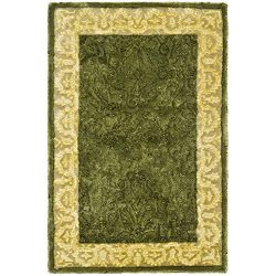 Safavieh Silk Road Collection SKR213A Handmade Spruce and Ivory New Zealand Wool Area Rug (2&#82 ...
