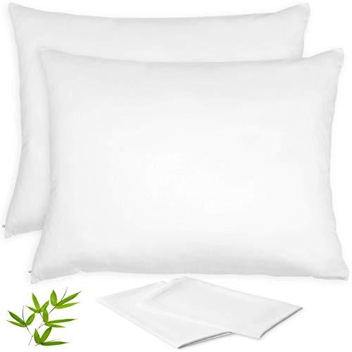 Bamboo Pillow Cases Lyocell – Set of 2 Zippered Pillowcase | Best Beauty Pillow & Anti ...