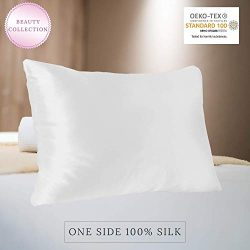 MYK 100% Pure Natural Mulberry Silk Pillowcase, 22 Momme Hair Skin Care, OKEO-TEX Certified, Hyp ...
