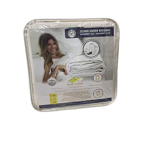 DOWN UNDER Light Weight 100% Mulberry Silk Filled Duvet Comforter Blanket Quilt with Corner Ties ...