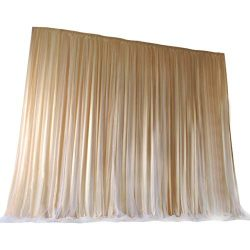TINTON LIFE 6.6ft x 6.6ft Two Layers Tulle Backdrop Curtains for Party Wedding Baby Shower Birth ...