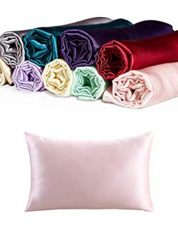 CrazyGo 100% Mulberry Silk Pillowcase for Hair and Skin Both Sides Slip Silk,19 Momme, 600 Threa ...