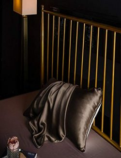 Barlingrock 1pc Natural Soft Mulberry Pure Silk Pillowcase Covers Silk Pillowcases Anti-Ageing B ...
