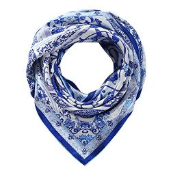 "Silk Scarfs Women Square Silk Scarf for Hair, 100% Pure Silk Head Scarf for Women 35""x35&# ..."