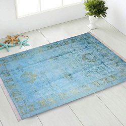 "Silk Touch Turkish Area Rug 2×4 feet (2'2"" x 3'8"") Distressed Vinta ..."