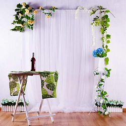 White Tulle Backdrop Curtains for Parties Weddings Baby Shower Background Home Decorations