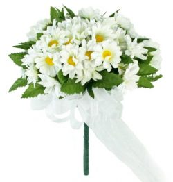 Daisy Silk Hand Tie Small – Silk Wedding Bridal Bouquet