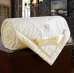 Zehui Duvet Coverlet Blanket Doona for Summer 100% Mulberry Silk Filled Comforter Quilt Yellow 2 ...