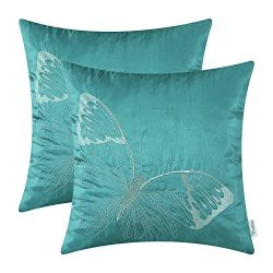 CaliTime Pack of 2 Cushion Covers Throw Pillow Cases Shells for Sofa Couch Home Decoration Big B ...