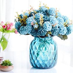 Smartcoco 10 Heads Artificial Chrysanthemum Silk Flowers Fake Flowers for Vintage Home Wedding D ...
