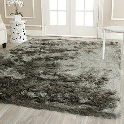 Safavieh Paris Shag Collection SG511-8383 Titanium Polyester Area Rug (8′ x 10′)