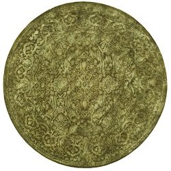 Safavieh Silk Road Collection SKR213D Handmade Sage New Zealand Wool Round Area Rug (6′ Di ...