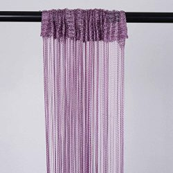 BalsaCircle 4 feet x 12 feet Violet Amethyst Silk Tassels Fringe Drapes Curtains – Wedding ...