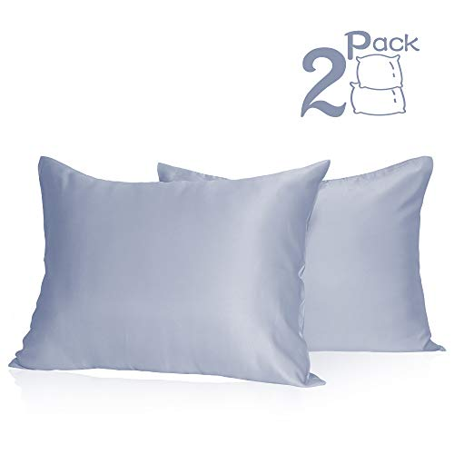 Muama Silk Satin Pillowcases 2 Pack Silky Pillow Cases Covers for Hair and Skin Super Soft and L ...