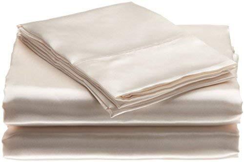 """Bedify Bedding 100% Pure Silk Satin Sheet Set 7pcs, Silk Fitted Sheet 15"""" Deep Pocket,Silk ..."""