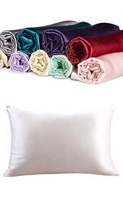 CrazyGo 100% Mulberry Silk Pillowcase for Hair and Skin Both Sides Slip Silk,19 Momme, 600 Threa ...